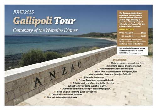 2015 ANZAC Tour